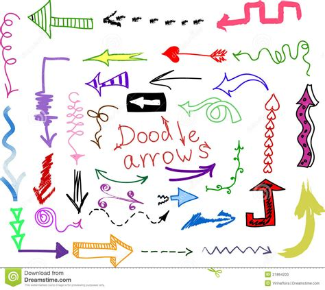 arrow doodle free vector doodle set arrows vector stock vector image 21864200