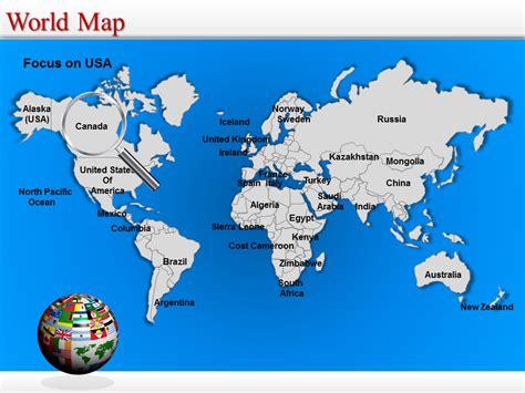 World Map Powerpoint Editable World Map World Map Ppt Template Editable World Map Powerpoint Template