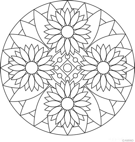 coloring pages designs mandala free mandalas coloring gt flower mandalas gt flower mandala