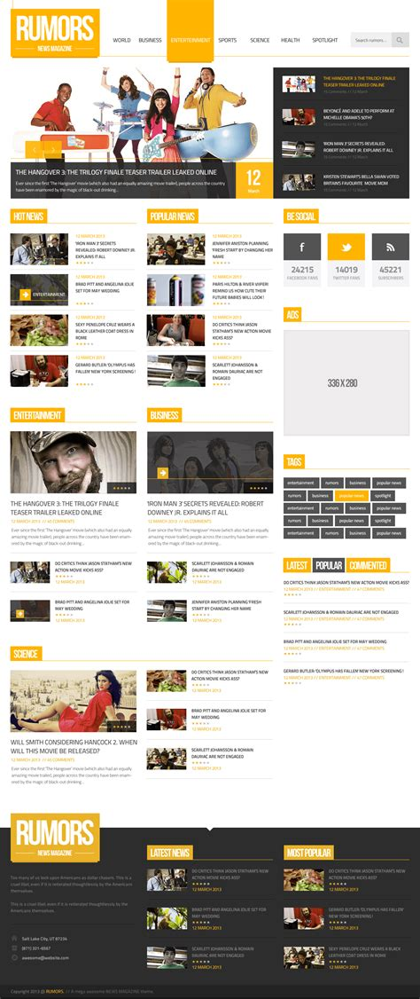 layout design psd free download news magazine homepage psd template download download psd
