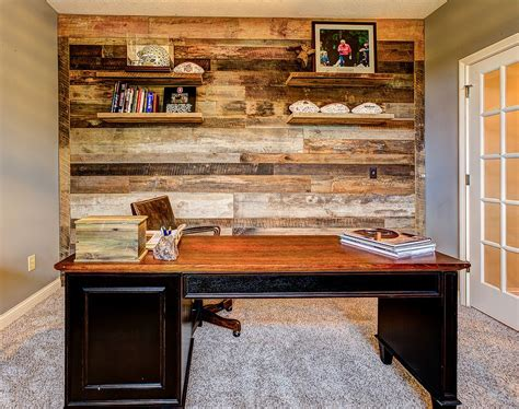 home office wall 25 ingenious ways to bring reclaimed wood into your home