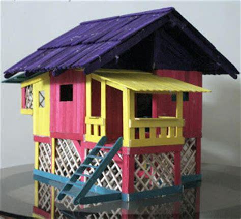 membuat rumah dari stik es ide kerajinan tangan unik rumah dari stik es krim bikin