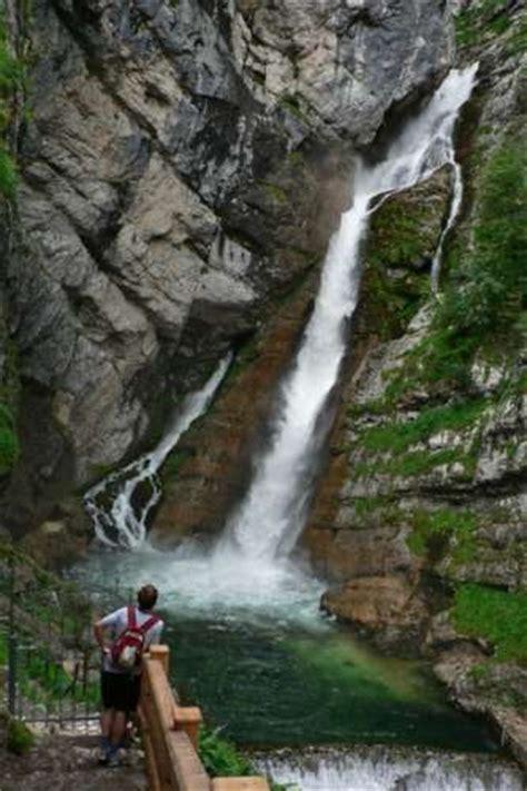 savica waterfall sightseeing bohinj
