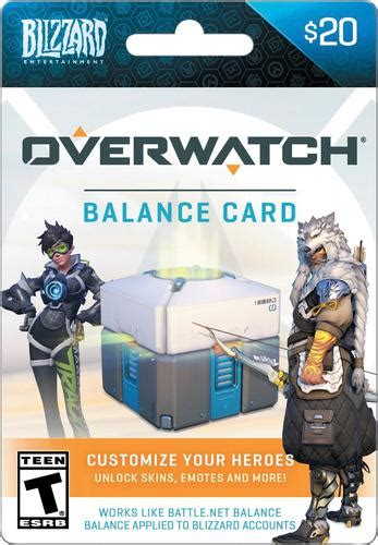 Overwatch Gift Card - blizzard balance 20 overwatch gift card multi overwatch blizzard balance 20 best buy