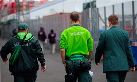 G4s Security Guard by G4s May Lose Olympic Management Fee As Cameron Vows To Go After Firm Uk News The Guardian