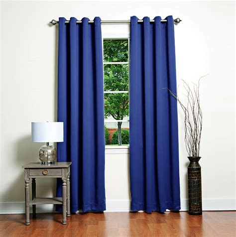 Blue Blackout Curtains Royal Blue Blackout Curtains Home Design Ideas