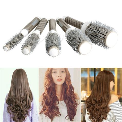 comb over bruash hair style hair brush ceramic iron round comb barber dressing salon