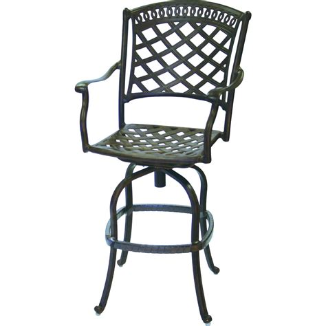 cast aluminum bar stools darlee sedona cast aluminum patio swivel bar stool mocha