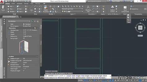 autocad tutorial windows adding doors and windows