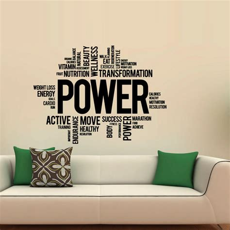 words wall stickers aliexpress buy power fitness wall decals vinyl