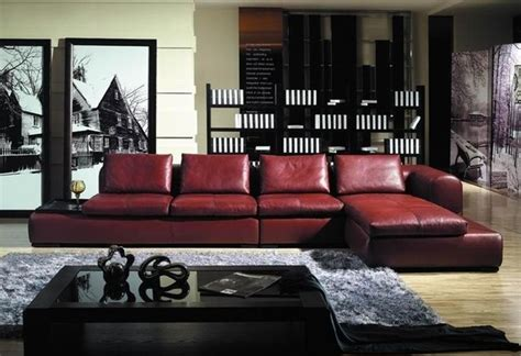 burgundy leather couch decorating ideas jeffers burgundy leather sectional modern sectional