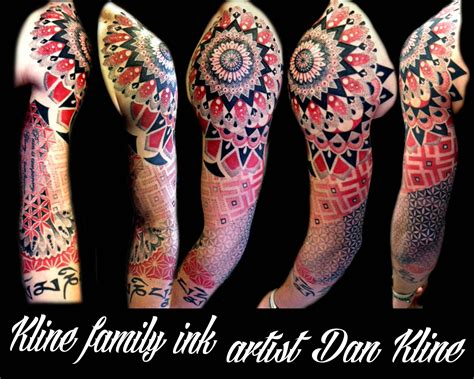 kline family ink dotwork tattoos and geometric tattoos