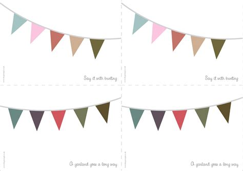 Card Bunting Template a chi chi affair printables