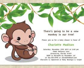 free monkey baby shower invitation templates items similar to baby shower invitation printable baby