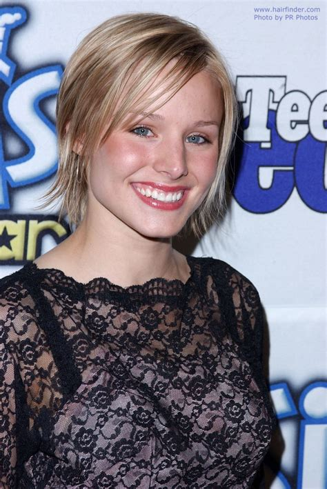 kristen bell   fine hair   cute short haircut