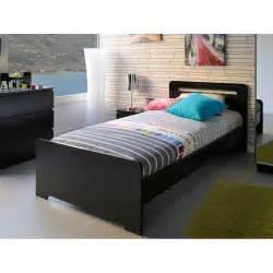 lit pour 1 personne noir vip fabriqu 233 en domobilis