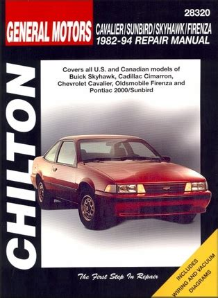 car engine manuals 2000 chevrolet cavalier electronic toll collection skyhawk cimarron cavalier firenza 2000 repair manual 1982 1994