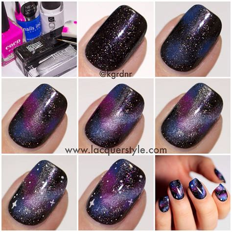 galaxy nail art tutorial easy lacquerstyle com simple realistic galaxy nails