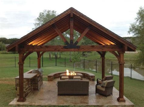 backyard rain shelter this beautiful yet rustic freestanding post and beam