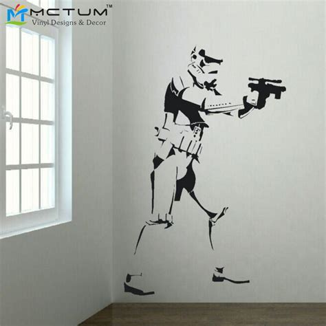 size wall stickers xtra large trooper wars poster vinyl wall sticker size wall big mural wall