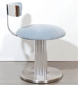 Vanity Stool Back Modernist Klismos Back Swivel Vanity Stool At 1stdibs