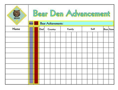 Cub Scout Advancement Card Templates by Advancement Chart Jpg 1 056 215 816 Pixels Outdoors