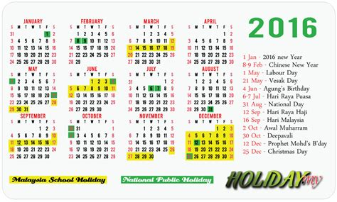 printable calendar 2016 for malaysia related keywords suggestions for holiday malaysia 2016