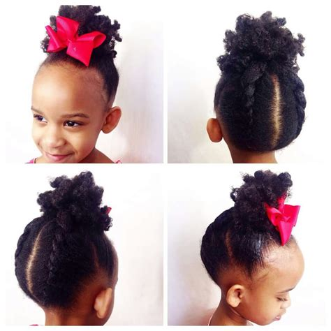updos for natural hair for kids pinterest i can finally give her the ponytail she s been asking for