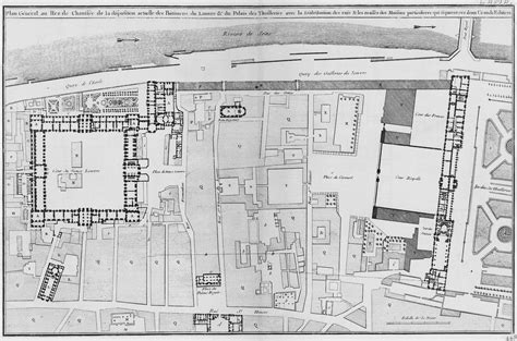 in plan a plan of the louvre s cour carr 233 e and the of the architecture fran 231 aise journal18 a