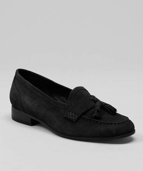 brothers suede loafers brothers suede tassel loafers in black lyst