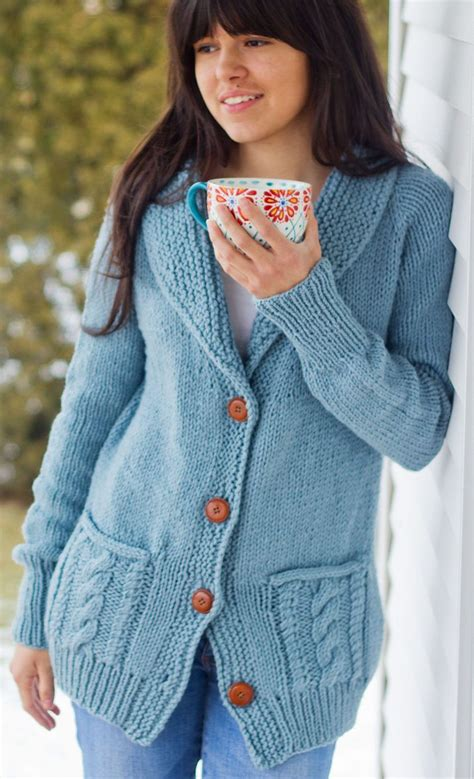 knitting pattern sweater with collar free knitting pattern for fezziwig cardigan cozy top