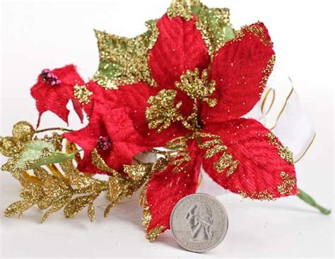 hessian gold poinsettia picks poinsettia and gold glitter floral picks florals and winter