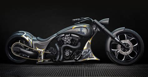 Special Aigner Verona Black Gold terminator custom harley davidson bikes ms artrix design
