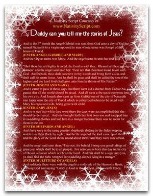 jesus christmas party script free script to act out the nativity pageant inspiring