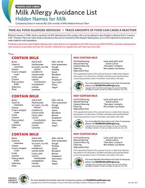 hidden names for quot milk quot on labels avoidance list for milk