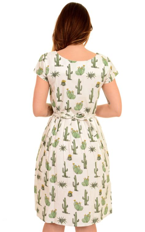 Cactus Dress run fly 50s 60s retro vintage catus tea dress