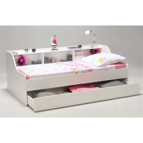 lit une personne avec rangement lit rangement wylene 90 x 190 cm