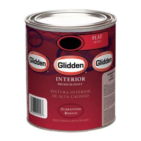 glidden premium 1 qt flat interior paint gln9012 04 the home depot