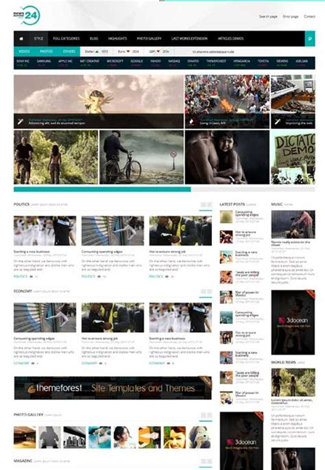 template toko online joomla premium joomla templates free download news24 a premium