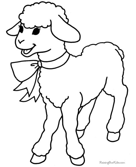 color sheep free coloring pages of and