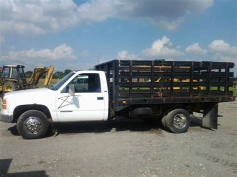 used gmc truck wheels sell used gmc 3500 stake bed dual wheel truck 1996