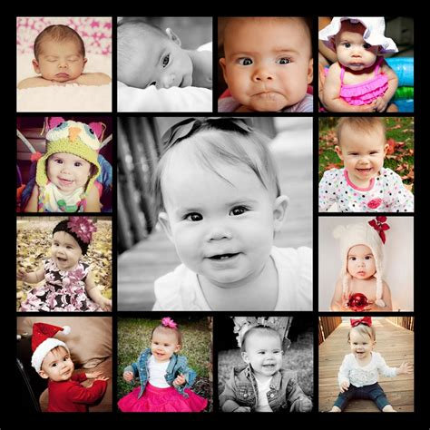 12 Month Photos For Canvas Amber Marie Photography Pinterest 12 Month Photos 12 Months 12 Month Photo Collage Template