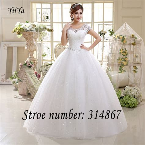 White Frock For Wedding free shipping white or cheap lace wedding dress