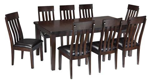 9 piece rectangular dining room table w oak veneers and