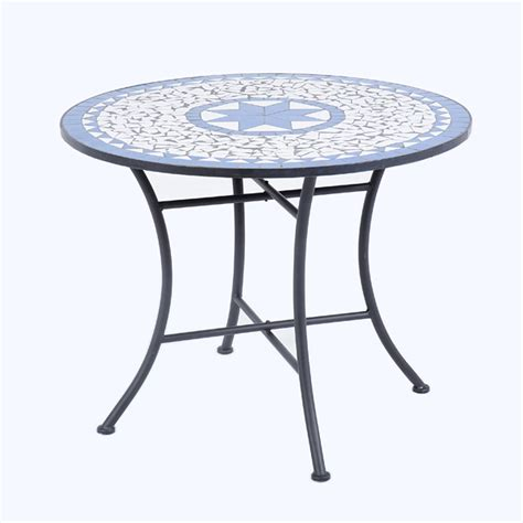 table el patio ellister palermo mosaic patio table 80cm on sale fast