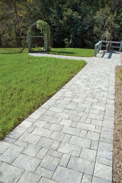slate stone antique gray standard finish paver walkway hardscaping ideas by cst pavers and