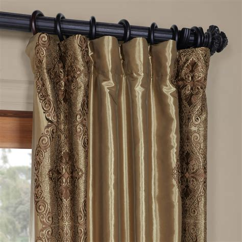 faux silk curtains shop chai embroidered faux silk curtains drapes