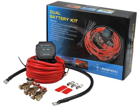 boat battery kit dual battery isolator kit for 12v 140a for rv boats