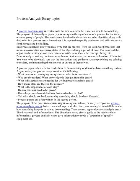 funny process analysis essay topics the field centre