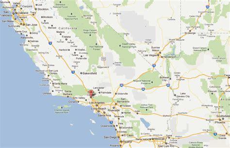 map of santa clarita california santa clarita california map